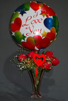 send gifts to bangladesh, send gift to bangladesh, banlgadeshi gifts, bangladeshi Rose & Balloon Combo