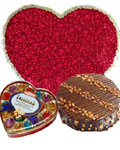 send gifts to bangladesh, send gift to bangladesh, banlgadeshi gifts, bangladeshi Love Combo with 100 Rose + Chocolate + Cake