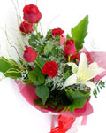 send gifts to bangladesh, send gift to bangladesh, banlgadeshi gifts, bangladeshi Lily+Carnation+Rose