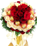 send gifts to bangladesh, send gift to bangladesh, banlgadeshi gifts, bangladeshi Chocolate & Rose Bouquet