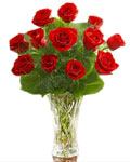 send gifts to bangladesh, send gift to bangladesh, banlgadeshi gifts, bangladeshi 24 Red Rose With  Vase
