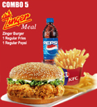 send gifts to bangladesh, send gift to bangladesh, banlgadeshi gifts, bangladeshi KFC-Zinger Burger Combo