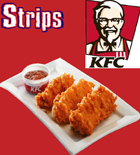 send gifts to bangladesh, send gift to bangladesh, banlgadeshi gifts, bangladeshi KFC - 3 Pcs Strips Chicken
