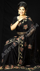 send gifts to bangladesh, send gift to bangladesh, banlgadeshi gifts, bangladeshi Black Siphon Saree