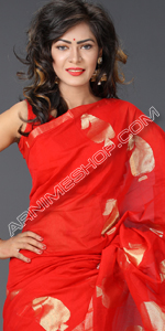 send gifts to bangladesh, send gift to bangladesh, banlgadeshi gifts, bangladeshi Red Kalka Silk