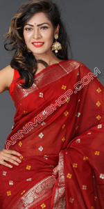 send gifts to bangladesh, send gift to bangladesh, banlgadeshi gifts, bangladeshi Maroon Half Silk Saree