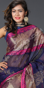 send gifts to bangladesh, send gift to bangladesh, banlgadeshi gifts, bangladeshi Multi Color Silk Saree