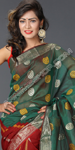 send gifts to bangladesh, send gift to bangladesh, banlgadeshi gifts, bangladeshi Multi Color Half Silk