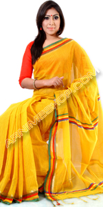 send gifts to bangladesh, send gift to bangladesh, banlgadeshi gifts, bangladeshi Yellow Cotton Sari