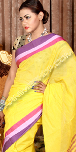 send gifts to bangladesh, send gift to bangladesh, banlgadeshi gifts, bangladeshi Multi Paar Yellow Sari