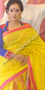 send gifts to bangladesh, send gift to bangladesh, banlgadeshi gifts, bangladeshi Yellow Saree
