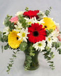 send gifts to bangladesh, send gift to bangladesh, banlgadeshi gifts, bangladeshi Gerbera With Vase