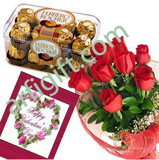 Send Rose & Chocolate + Card  Combo to Bangladesh, Bangladesh Newspaper, Bangladeshi gift, send gifts to bangladesh, send gift to bangladesh