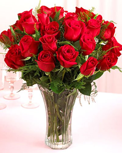 Send  24 Rose With Vase to Bangladesh, Bangladesh Newspaper, Bangladeshi gift, send gifts to bangladesh, send gift to bangladesh