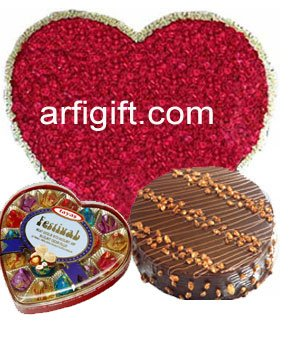 Send Love Combo with 100 Rose + Chocolate + Cake to Bangladesh, Bangladesh Newspaper, Bangladeshi gift, send gifts to bangladesh, send gift to bangladesh