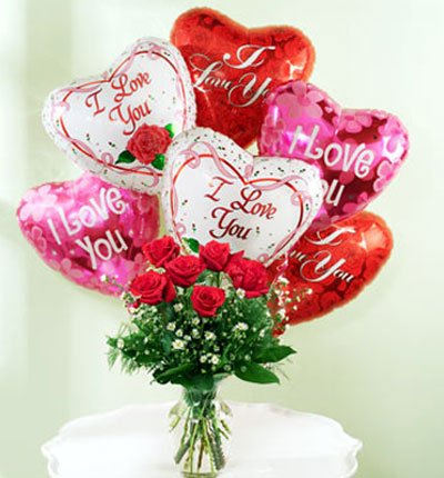 Send Rose & Balloon With Vase to Bangladesh, Bangladesh Newspaper, Bangladeshi gift, send gifts to bangladesh, send gift to bangladesh