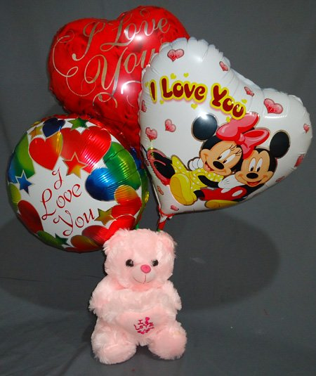 Send Teddy &  Balloon Combo to Bangladesh, Bangladesh Newspaper, Bangladeshi gift, send gifts to bangladesh, send gift to bangladesh