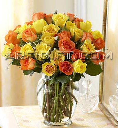 Send 36 Rose with Vase to Bangladesh, Bangladesh Newspaper, Bangladeshi gift, send gifts to bangladesh, send gift to bangladesh