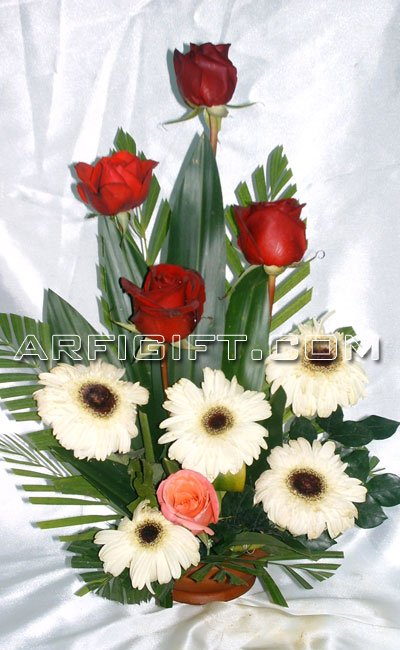 Send Thai Rose & Gerbera to Bangladesh, Bangladesh Newspaper, Bangladeshi gift, send gifts to bangladesh, send gift to bangladesh