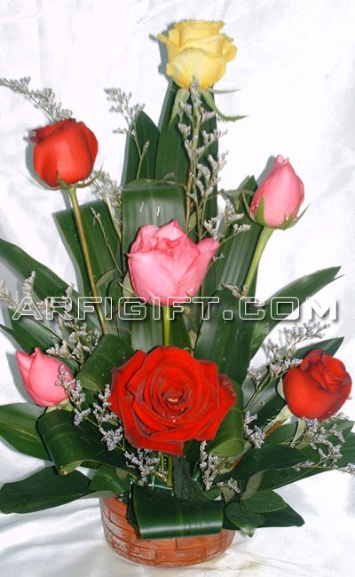 Send Thailand  Mix Rose  to Bangladesh, Bangladesh Newspaper, Bangladeshi gift, send gifts to bangladesh, send gift to bangladesh