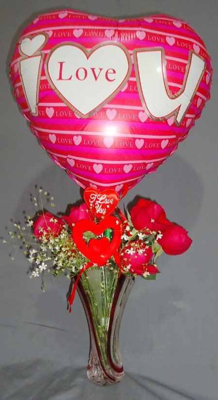Send Balloon & Rose Combo to Bangladesh, Bangladesh Newspaper, Bangladeshi gift, send gifts to bangladesh, send gift to bangladesh