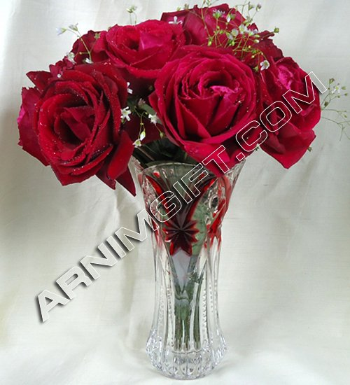 Send imported vase with rose to Bangladesh, Bangladesh Newspaper, Bangladeshi gift, send gifts to bangladesh, send gift to bangladesh