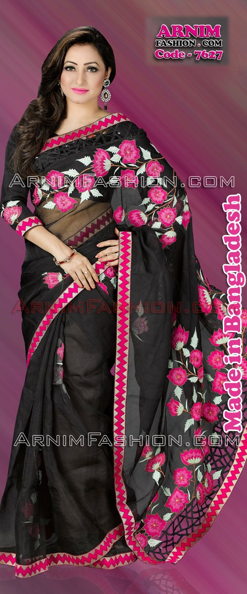 Send Black Moslin Saree to Bangladesh, Bangladesh Newspaper, Bangladeshi gift, send gifts to bangladesh, send gift to bangladesh