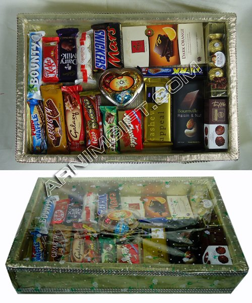 Send Gift Basket with 19 Item Chocolate to Bangladesh, Send gifts to Bangladesh